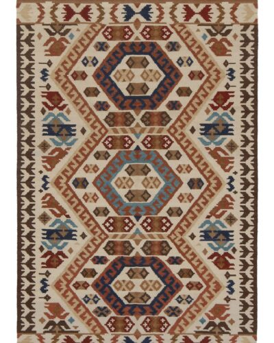 KAZK-102-001 GEO2 BEIGE BLUE Full